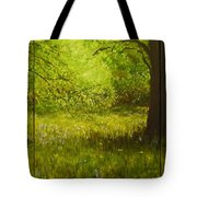 Bluebell Wood In Spring Triptych  Tote Bag