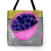 Blueberries In A Bowl Tote Bag