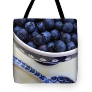 Blueberries In Polish Pottery Bowl Tote Bag