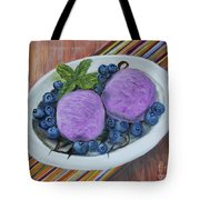 Blueberry Ice Cream Party Tote Bag