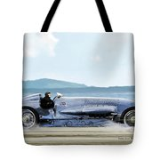 Bluebird II, 1928, World Record Land Speed Record At Pendine Sands, Wales, 178.88 Mph Tote Bag