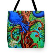 Bluebird In Tree Tote Bag