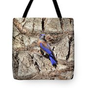 Bluebird On Canary Island Palm II Tote Bag
