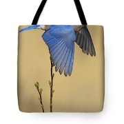 Bluebird Takes Flight Tote Bag
