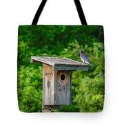 Bluebird With Grub Tote Bag
