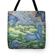 Bluebirds Of Happiness Tote Bag