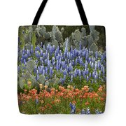 Bluebonnet Paintbrush And Prickly Pear Tote Bag
