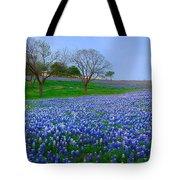 Bluebonnet Vista - Texas Bluebonnet Wildflowers Landscape Flowers  Tote Bag