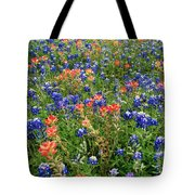 Bluebonnets And Paintbrushes 3 - Texas Tote Bag