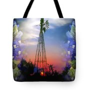 Bluebonnets And Windmill Tote Bag