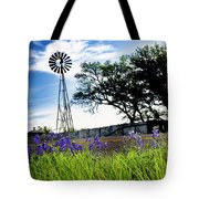 Bluebonnets With Windmill Tote Bag