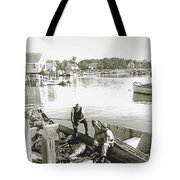 Bluefin Tuna At Barnstable Harbor Tote Bag