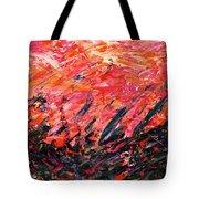 Bluegrass Sunrise - Crimson B-right Tote Bag