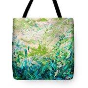 Bluegrass Sunrise - Jade A-left Tote Bag