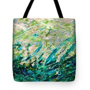 Bluegrass Sunrise - Jade B-right Tote Bag