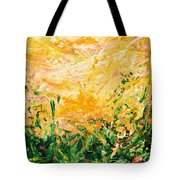 Bluegrass Sunrise - Lemon A-left Tote Bag