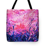 Bluegrass Sunrise - Violet A-left Tote Bag