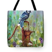 Bluejay Peaceful Perch Tote Bag