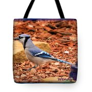 Bluejay Profile Tote Bag