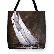 Bluenose At Night Coming Tote Bag