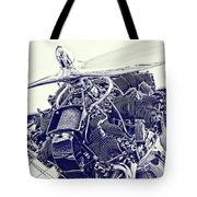 Blueprint Radial Tote Bag