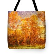 Gold Trees Tote Bag