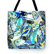 Blues Fishes Tote Bag