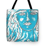 Blues Girl Tote Bag