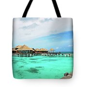 Blues In Maldivian Performance  Tote Bag