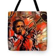 Blues On Bourbon Street Tote Bag