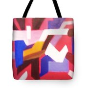 Blues On Rouge   Tote Bag