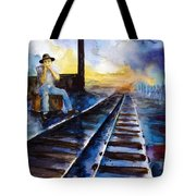 Blues On The Other Side Tote Bag