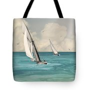 Bluewater Cruising Sailboats Tote Bag