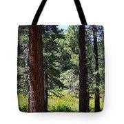 Bluff Lake Ca Through The Trees 7 Tote Bag