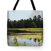 Bluff Lake Ca Wild Flowers 12 Tote Bag