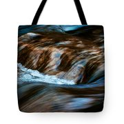 Blurred Cascades On The Autumn River Tote Bag
