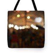 Blurred Delhi Street Scene At Night Tote Bag