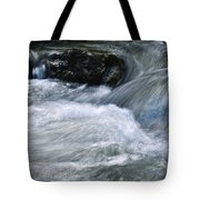 Blurred Detail Of A Mountain Stream Tote Bag