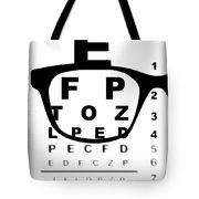 Blurry Eye Test Chart Tote Bag
