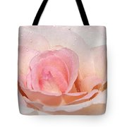 Blush Pink Dewy Rose Tote Bag