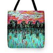 Blushing Metropolis Tote Bag
