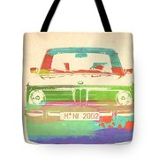 Bmw 2002 Front Watercolor 3 Tote Bag by Naxart Studio