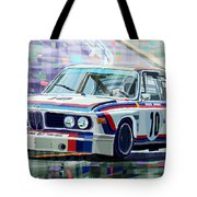 Bmw 3 0 Csl 1st Spa 24hrs 1973 Quester Hezemans Tote Bag by Yuriy  Shevchuk
