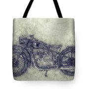 Bmw R32 - 1919 - Motorcycle Poster 1 - Automotive Art Tote Bag