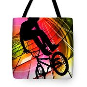 Bmx In Lines And Circles Tote Bag