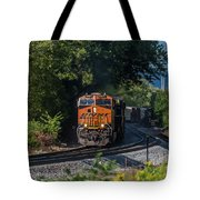 Bnsf Coming Around The Curve Tote Bag