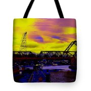Bnsf Trestle At Salmon Bay Tote Bag
