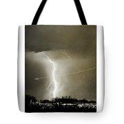 Bo Trek Lightning Bw Fine Art Poster Print Tote Bag