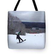 Board On Snow Tote Bag