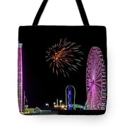 Boardwalk Fieworks At The Jersey Shore Tote Bag